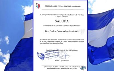 FELICITACION DE LA FEDERACION AL PRESIDENTE CARLOS CUENCA POR EL ASCENSO A TERCERA RFEF.