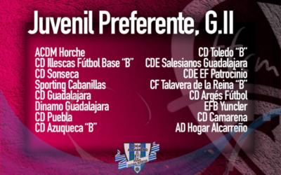 CALENDARIO JUVENIL HOGAR ALCARREÑO PREFERENTE/ Grupo II PEÑA HOGAR ALCARREÑO